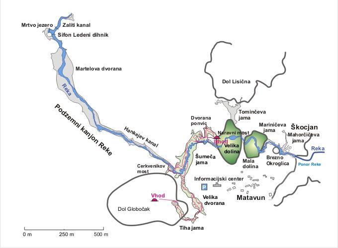 zemljevid jame tloris velik